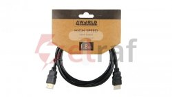 Kabel HDMI High Speed with Ethernet 1,8m czarny 08604