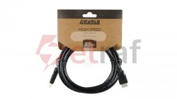 Kabel HDMI High Speed with Ethernet 3m czarny 08605
