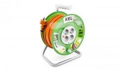 Przedłużacz bębnowy STANDARD LINE 25m H05VV-F 3x1,5 4xGS /+ termik/ 16A pomarańczowy