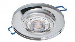 Oprawa szklana GLASSO-O-S okrągła srebrna 90x8 halogenowa wpuszczana - 1szt LUX06740