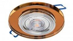 Oprawa szklana GLASSO-O-A okrągła amber / bursztyn 90x8 halogenowa wpuszczana - 1szt LUX06742