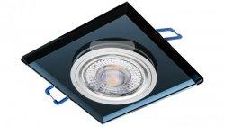 Oprawa szklana GLASSO-K-B kwadrat czarna 90x8 halogenowa wpuszczana - 1szt LUX06745