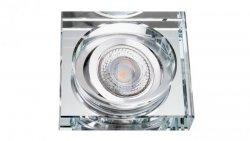 Oprawa szklana FASO-K-S kwadrat srebrna 90x20 gruba halogenowa wpuszczana regulowana - 1szt LUX06765