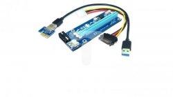 Riser PCi-E 1x-16x USB 3.0 SATA IDE Molex 55500