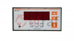 Woltomierz 3-fazowy cyfrowy tablicowy 15-660V AC IP54 DMK10R1