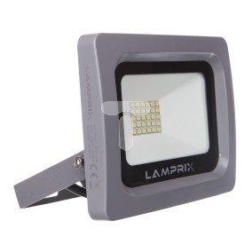 Projektor LED 20W obudowa szara aluminiowa 1680lm 4000K 220-240V IP65  LAMPRIX LP-12-027