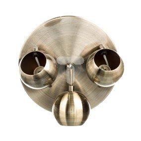 Oprawa 3x50W 230V GU10 z żarówką fi230mm antyczny mosiądz OSCAR-3C