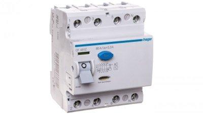 Wyłącznik różnicowoprądowy 4P 80A 0,3A typ AC CF481Z