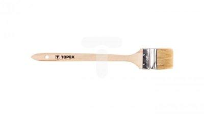 Pędzel kaloryferowiec 2.5cala uchwyt drewniany do farb olejnych emulsyjnych lateksowych i akrylowych 20B963