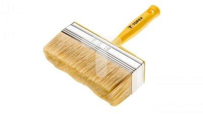 Pędzel ławkowiec plastikowy 14x4 cm do farb emulsyjnych lateksowych akrylowych bejc impregnatów lakierobejc 20B968