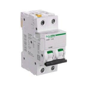 Wyłącznik nadprądowy 2P C 6A 10kA AC iC60H-C6-2 A9F07206
