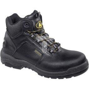Buty z pełnej skóry licowej wodoodporne, podeszwa z PU podnosek i wkładka kompozytowe kolor czarny rozmiar 45 PIED  CT600S3NO45
