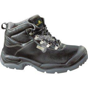 Buty ze skórzanego kruponu barwionego podeszwa z dwuwarstwowego PU kolor czarny rozmiar 47 PIED  SAULTS3NO47