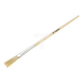 Pędzel mini 0 uchwyt drewniany do farb emulsyjnych lateksowych akrylowych bejc impregnatów lakierobejc olejnych 20B976