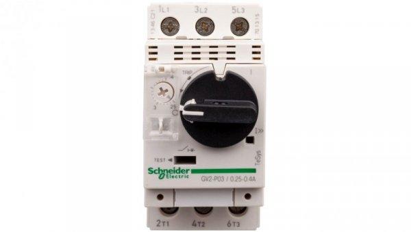 Wyłącznik silnikowy 3P 0,09kW 0,25-0,4A GV2P03