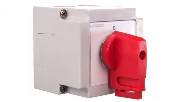Łącznik krzywkowy 0-1 4P 10A w obudowie /+blokada/ 4G10-92-PK S6