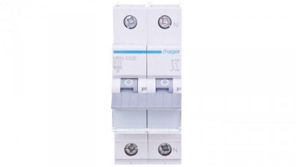 Wyłącznik nadprądowy 1+N B 32A 6kA AC MBN532E