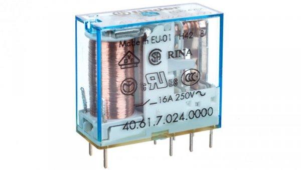 Przekaźnik miniaturowy 1P 16A 24V DC, cewka czuła 40.61.7.024.0000