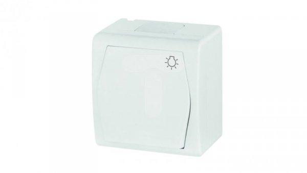 Hermes2 Przycisk hermetyczny /światło/ 10A IP44 biały 1004-00