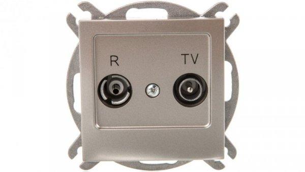 AS Gniazdo antenowe RTV końcowe 2,5-3dB satyna light GPA-GK/m/45