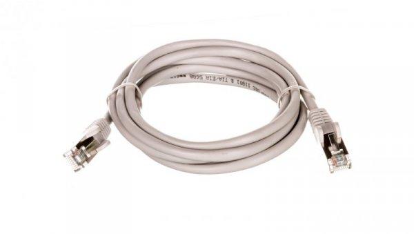 Kabel krosowy patchcord F/UTP kat.5e CCA szary 1m 50127