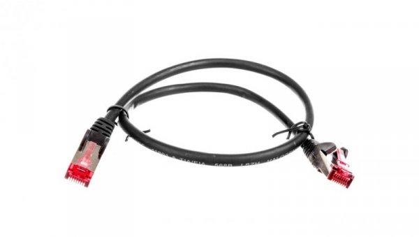 Kabel krosowy patchcord S/FTP (PiMF) kat.6 LSZH czarny 0,5m 68687