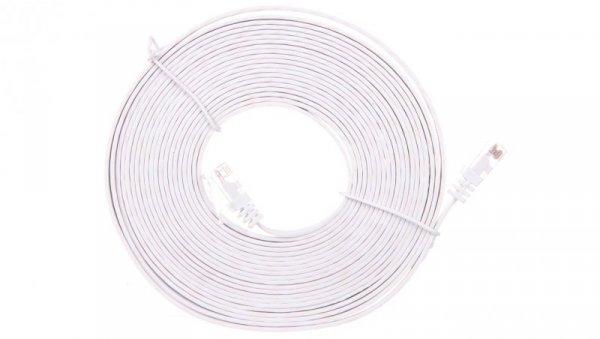 Kabel krosowy płaski patchcord U/UTP kat.5e biały 5m 93361