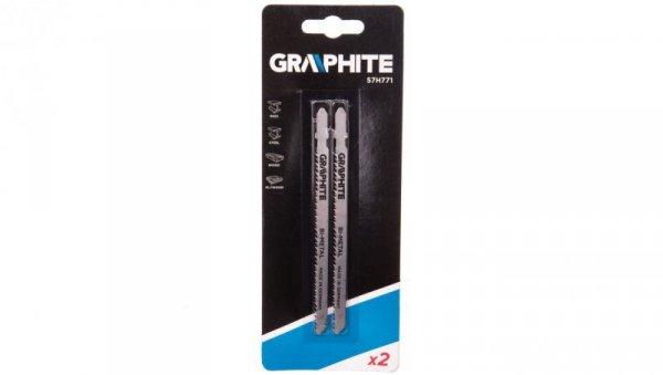 Brzeszczoty do wyrzynarki 42657 TPI uchwyt typu T do metalu stali nierdzewnej i drewna 57H771 /2szt./