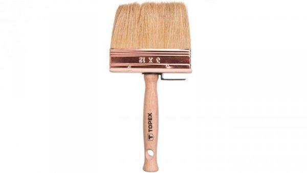 Pędzel ławkowiec drewniany 12x3 cm do bejc impregnatów lakierobejc 20B971