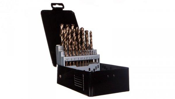 Wiertła do metalu HSS-Co 1.0-13 mm stal M35 kąt wierzchołkowy 135stopnia korekta ścinu DIN338 57H090 /25szt./