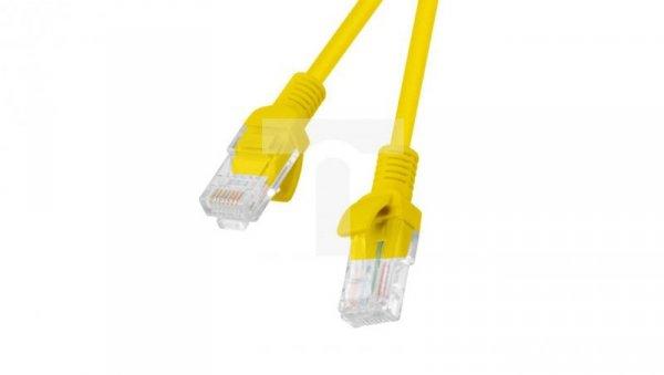 Kabel krosowy patchcord U/UTP kat.6 1,5m żółty PCU6-10CC-0150-Y