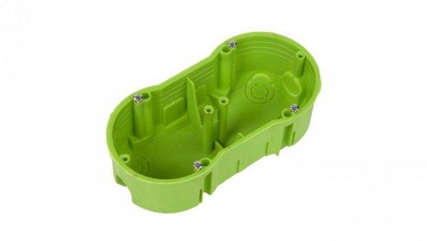 Polmark Puszka podtynkowa podwójna 60mm zielona TP PU-PP-FPP-F2X60PŁ-N