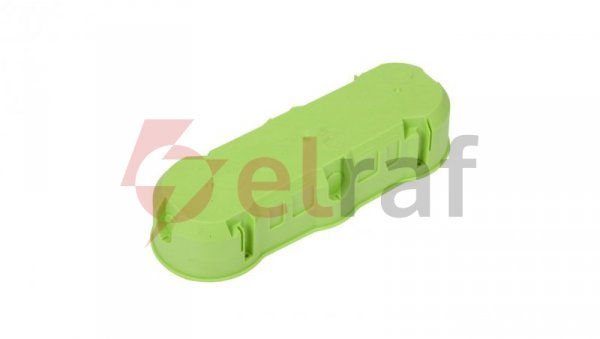Polmark Puszka podtynkowa potrójna niepalna 850 stopni C zielona PP-F3X60PŁ-N
