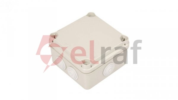 Puszka natynkowa LIGHT 108x108x64 7xM25 IP66/67 szara EV-111