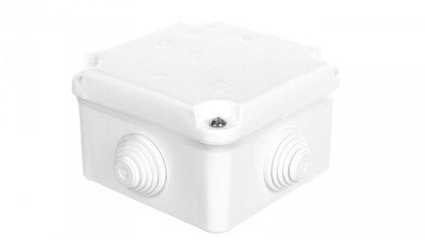 Puszka odgałęźna z zaciskami 5-torowa dla Cu do 2.5mm2 IP55 biała 88x88x60 PK-0 0223-00