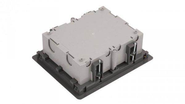 Simon Connect Puszka SF podłogowa potrójna 6xK45 70mm + SM302/9 szara SF370/1