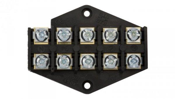 Płytka odgałęźna ZPT/2,5mm2/5-torów czarna ZPT 5-2.5 83002007
