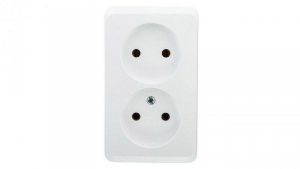 Prima Gniazdo podwójne b/u 16A IP20 białe GWN-220P WDE001040