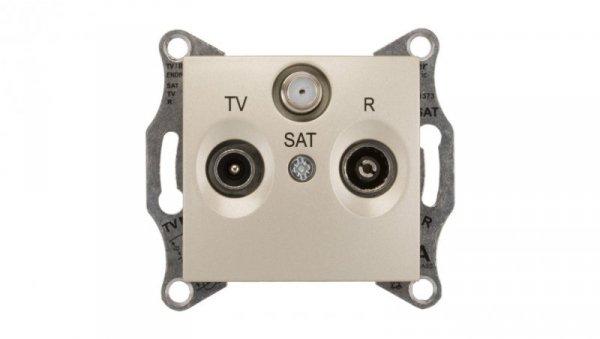 Sedna Gniazdo antenowe RD/TV/SAT końcowe satynowe SDN3501368