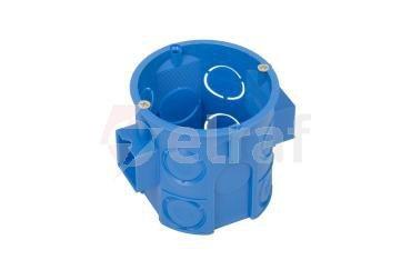 Puszka podtynkowa 60mm głęboka z wkrętami niebieska S60Dw 34069203