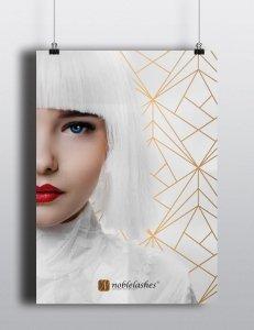 Plakat White & Gold Noble Lashes