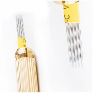 Piórka / igły do shadowingu i metody piórkowej, złote 9m1