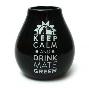 Matero Ceramiczne Czarne Keep calm and drink Yerba Mate