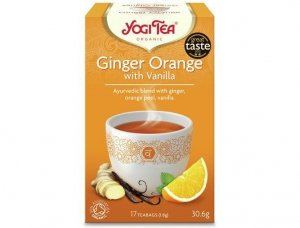 Herbata Imbir pomarańcza Wanilia Bio 17x1,8g Yogi Tea