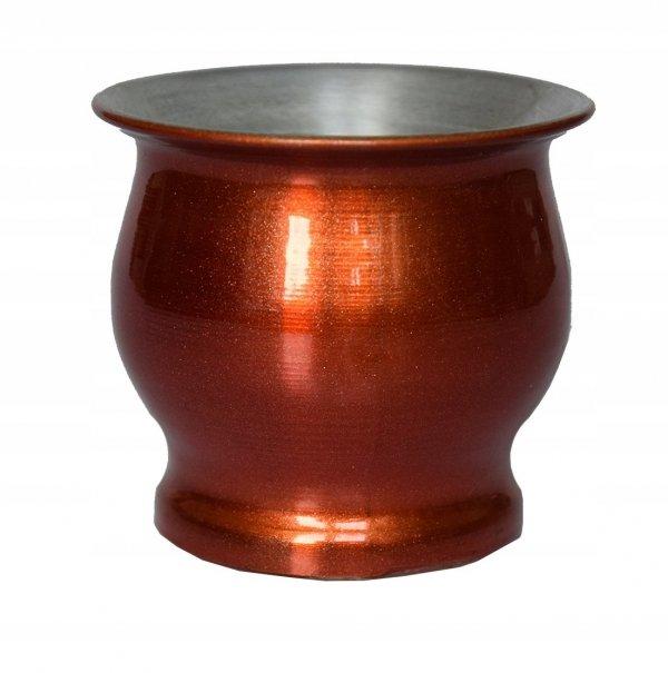 Matero Aluminio 125ml Orange Argentina Yerba Mate