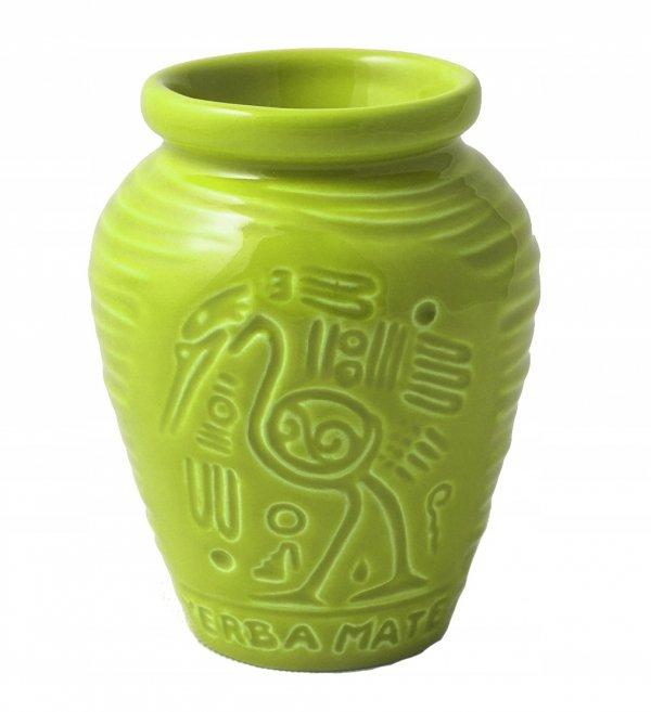 Matero Ceramiczne AZTEK Groszek Zielone Yerba Mate
