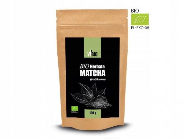 BIO Herbata Matcha proszek 100g Ekologiczna VIBIO