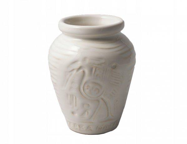 Matero Ceramiczne AZTEK Białe do Yerba Mate