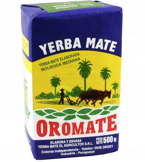 Yerba Mate Oromate Elaborada Molienda Mediana 500g