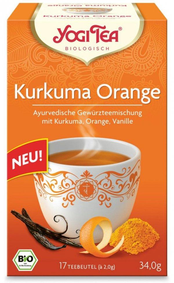 Herbata Kurkuma + Pomarańcza Bio 17x2,0g Yogi Tea